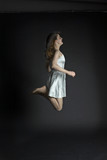 pretty jumping women #2 poster