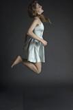 pretty jumping women #4 poster