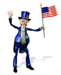 uncle sam holding us flag