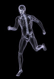 x-ray man running poster