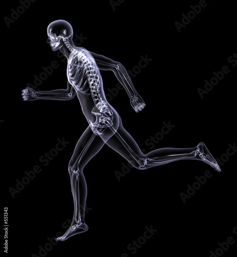 poster of x-ray man running