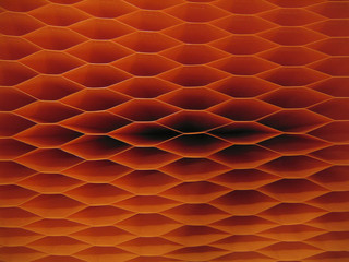 dark orange honeycomb pattern