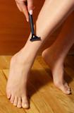 shaving legs poster