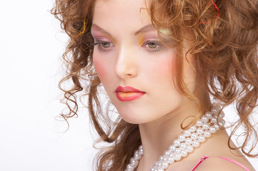 attractive woman make up.