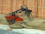 construction equipment trencher poster