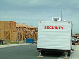 construction security, trailer poster