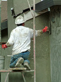 stucco worker, man, safety poster
