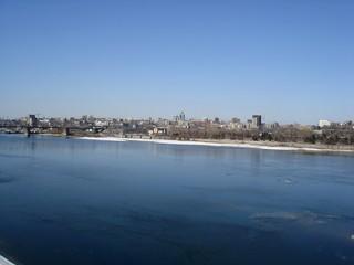 novosibirsk city,  ob river,