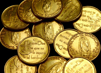 gold coins view