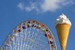 ferris wheel and ice cream cone
