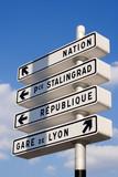 parisian directions poster
