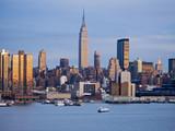 ny skyline at dusk poster