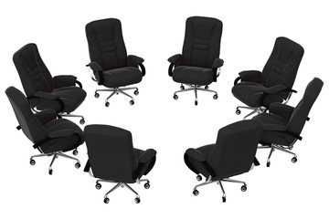 isolated office armchairs 05