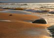 Leinwanddruck Bild the gold beach