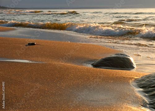 Leinwandbild Motiv the gold beach