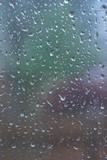 raindrops on window pane background poster