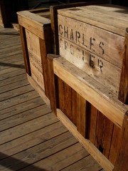 caisse en bois far west