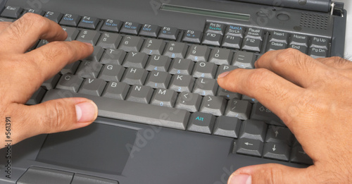 typing on laptop computer #1