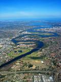 swan river aerial view poster