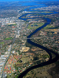 swan river aerial view 2 poster