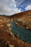 hot geothermal river poster