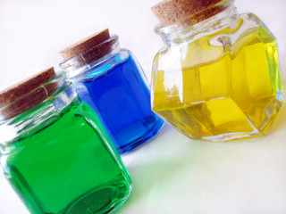 colorful bottles of potions