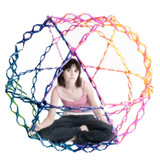 collapsible rainbow colored ball poster