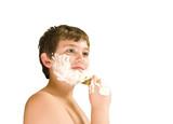 boy shaving poster