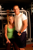 fitness couple poster