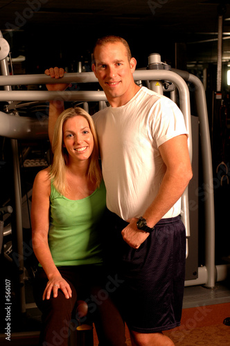 poster of fitness couple