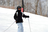 child ski downhill poster