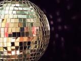 shiny disco ball, detailed poster