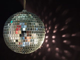 shiny disco ball reflections poster