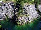 marble quarry in russia poster