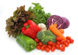 colorful fresh group of vegetables poster