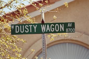 streetsign: dusty wagon avenue