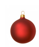 red christmas bauble poster
