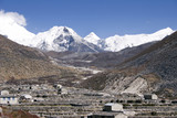 dingboche and island peak - nepal poster