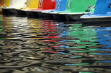 paddle boat reflections poster