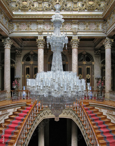 baccarat chandelier in dolmabahce palace, turkey