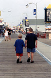 strolling down the boardwalk