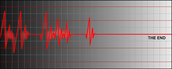 cardiogram ending with 'the end'