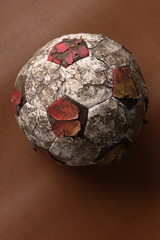 tatty old soccer ball