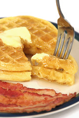 bite of waffles vertical