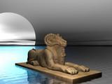 ram headed sphinx poster