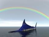 rainbow marlin poster