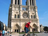 paris notre dame cathedral poster