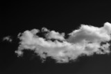 monochrome clouds poster
