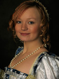 portrait of girl in polish clothes of 16 century poster