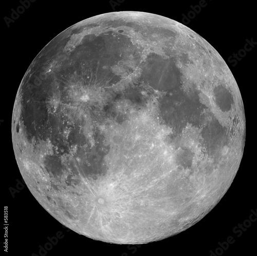 Leinwanddruck Bild full moon